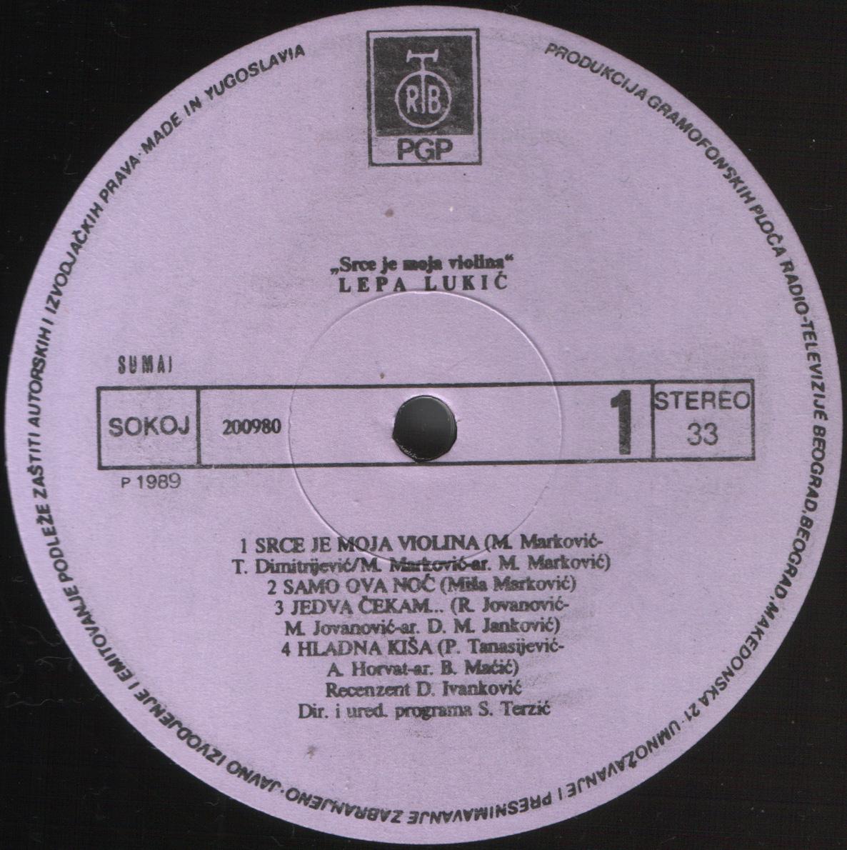 Lepa Lukic 1989 A