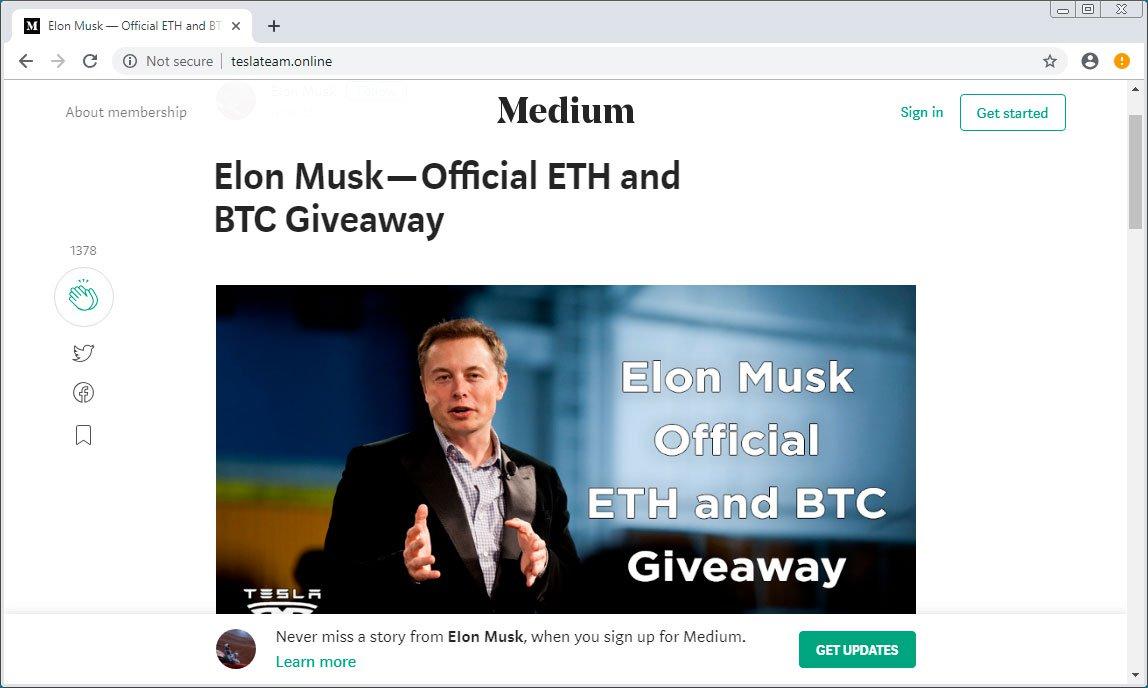 Beware of Fake John McAfee and Tesla Cryptocurrency Giveaways