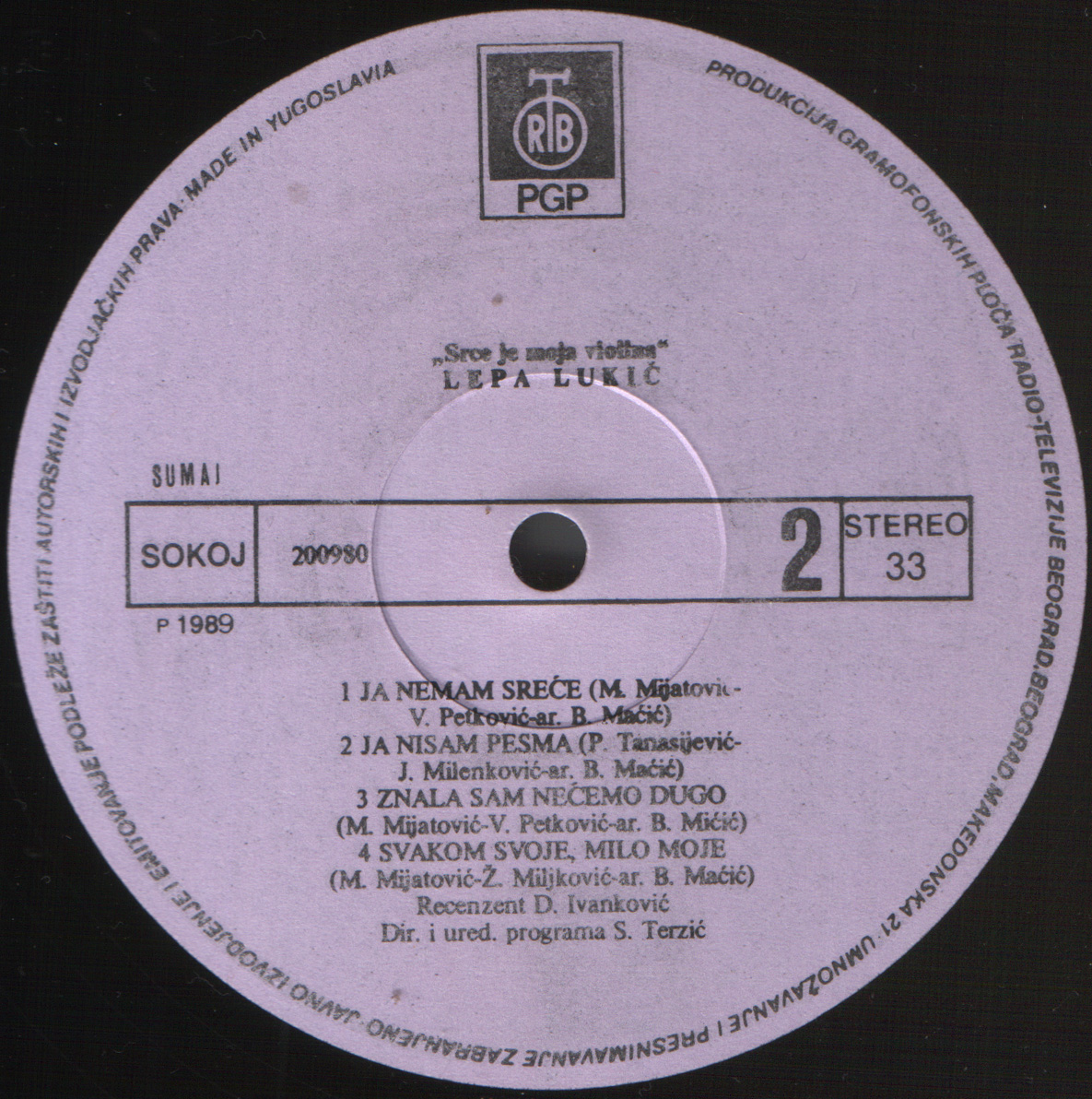 Lepa Lukic 1989 B