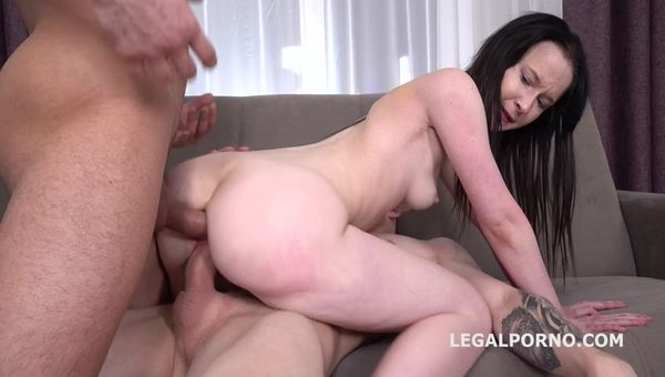 [LegalPorno] Sweetie Plum First Time DP with Rough Action, Balls Deep Anal, Gapes and Facial GL121 (10.02.2020)