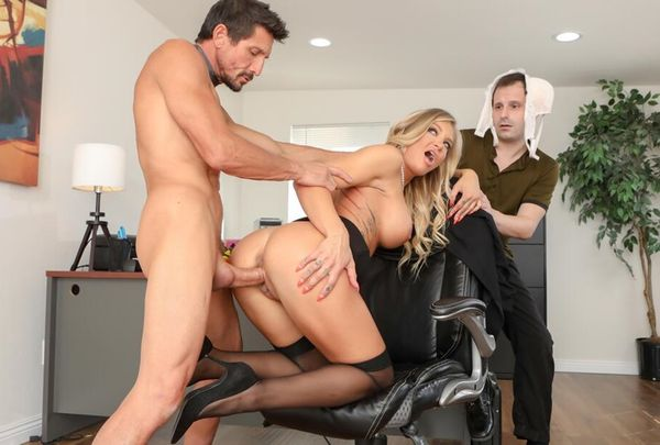Cucked.XXX - Alison Avery - Sissy Husband Watches As His Wife Gets Cock For Lunch [HD 720p]